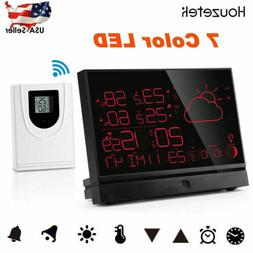Digital 7 Color Wireless Weather Station Barometer Thermomet