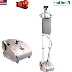 2-in-1 1800W Stand Garment Steamer Clothes Fabric Steam Iron