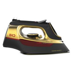 Chi Steam Dry Iron Clothes 1700W Gold Fabric Garment Retract