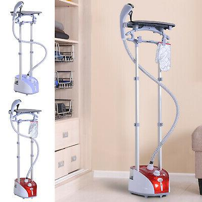 fabric garment steamer for clothes hanging full