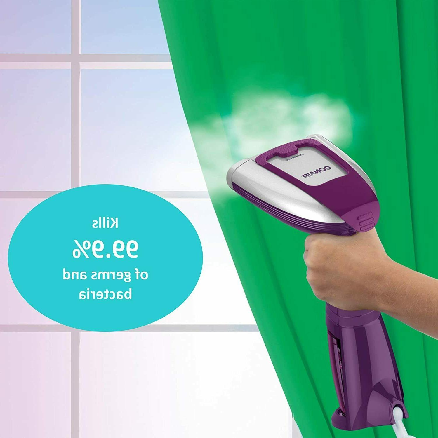 Conair Held Fabric Steamer 99.9% of Germs Bacteria Bed