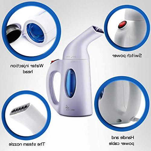 ABYON ML-0019 Steamer Clothes Fabric Automatic Shut-Off Safety Protection|Perfect Home Travel, White1