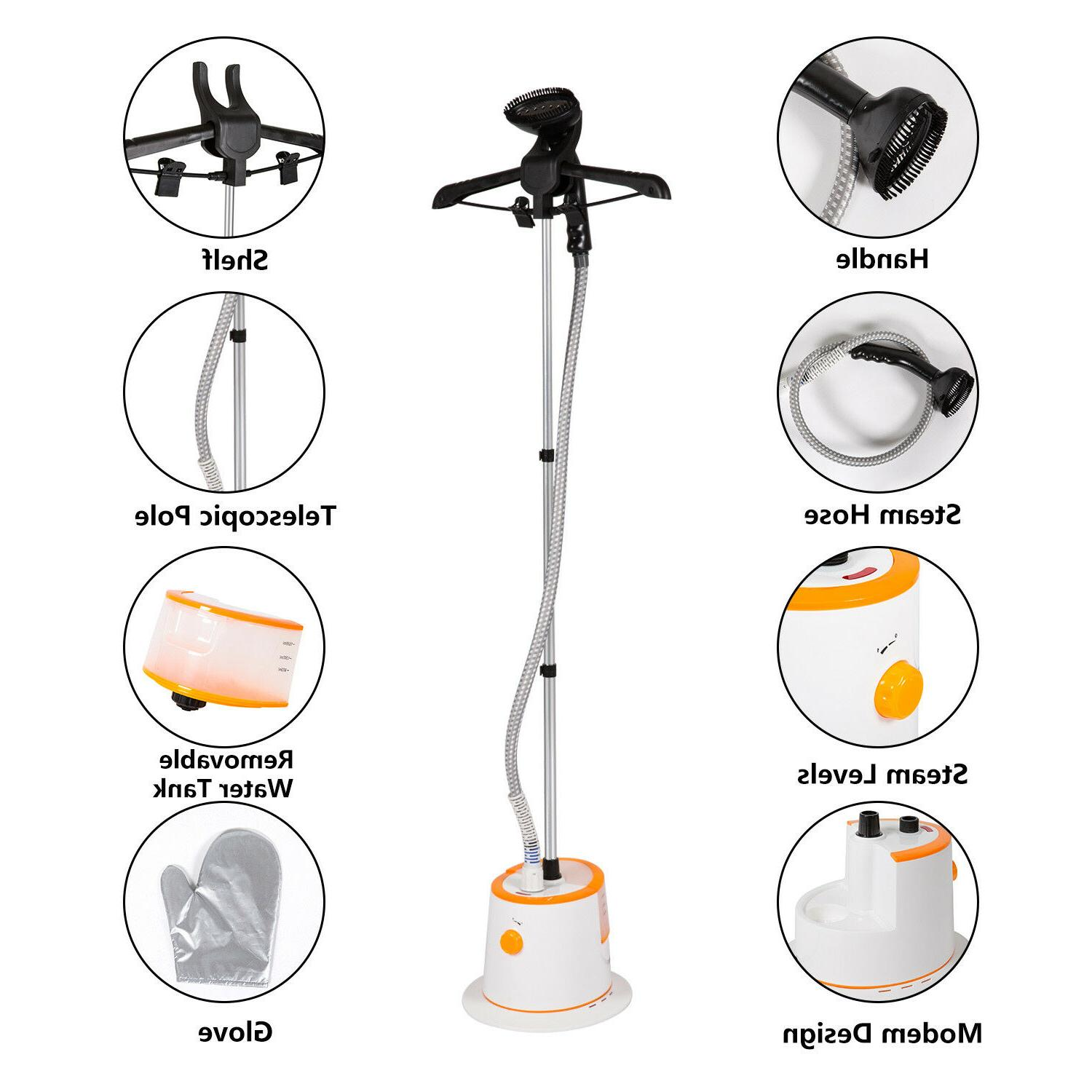 1500ml Clothing Steamer with Hanger Wrinkle
