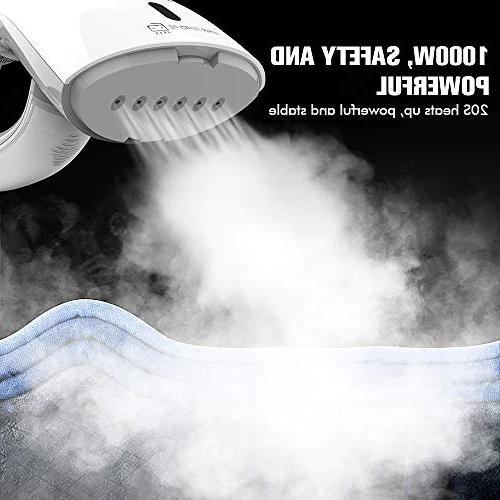 OXA 1000W Handheld Garment Steamer, Brushes, Fabric Steamer Portable, Lightweight and Perfect for Travel & Home
