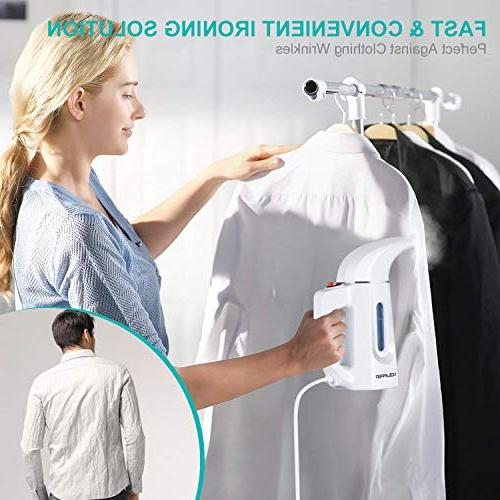 Clothes Steamer Handheld for Home and Travel, Wrinkle Remove, Sterilize, Sanitize, Defrost