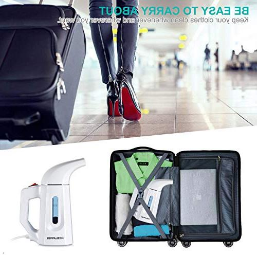 Clothes Steamer Handheld Portable for Home Travel, Wrinkle Remove, Sanitize, Treat Defrost