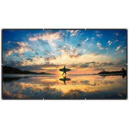 TaoTronics 120 Inch Projector Screen 16: 9 HD Anti-Crease Pr